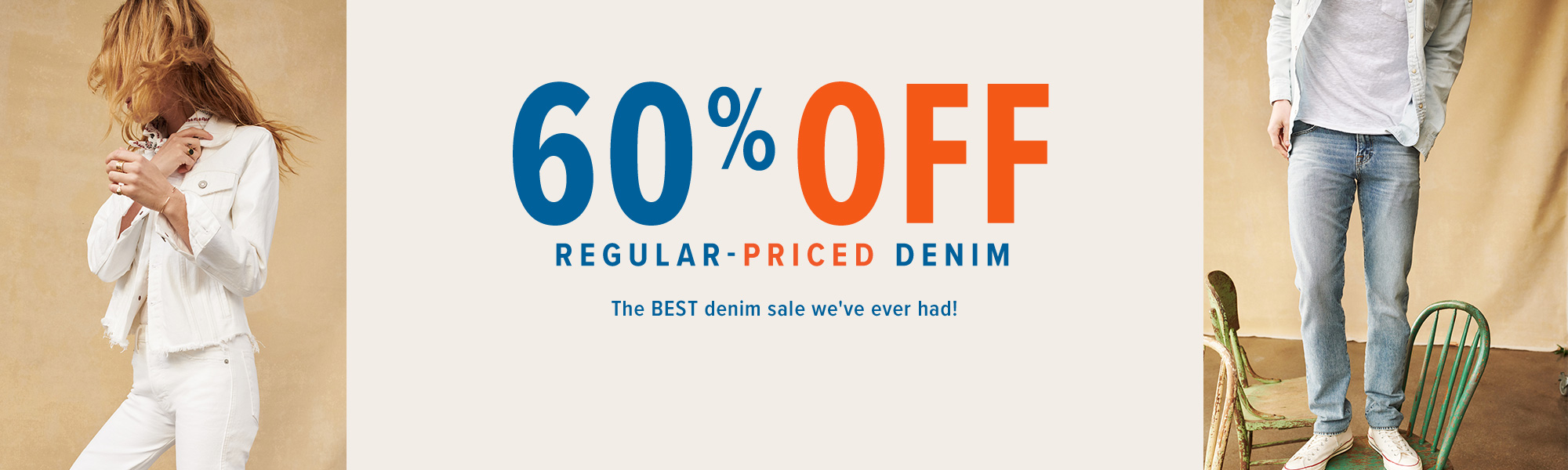 60% off Select Denim