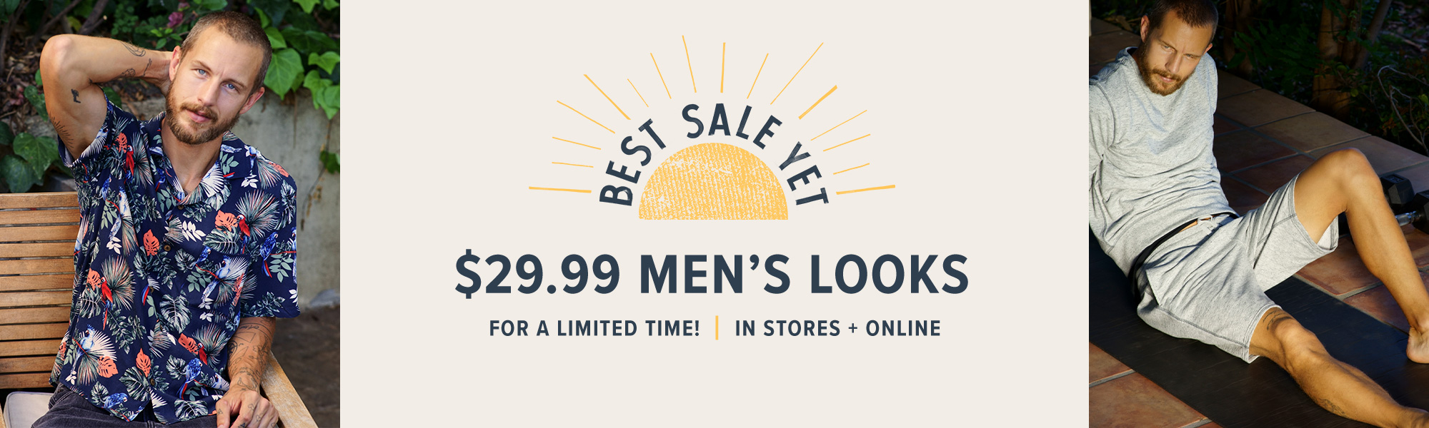 BEST SALE YET: $29.99 Shirts & Shorts for Him