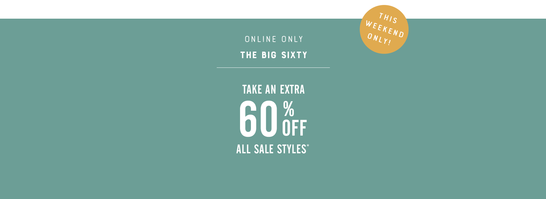 8dbc67a62 TAE 60% Off All Sale