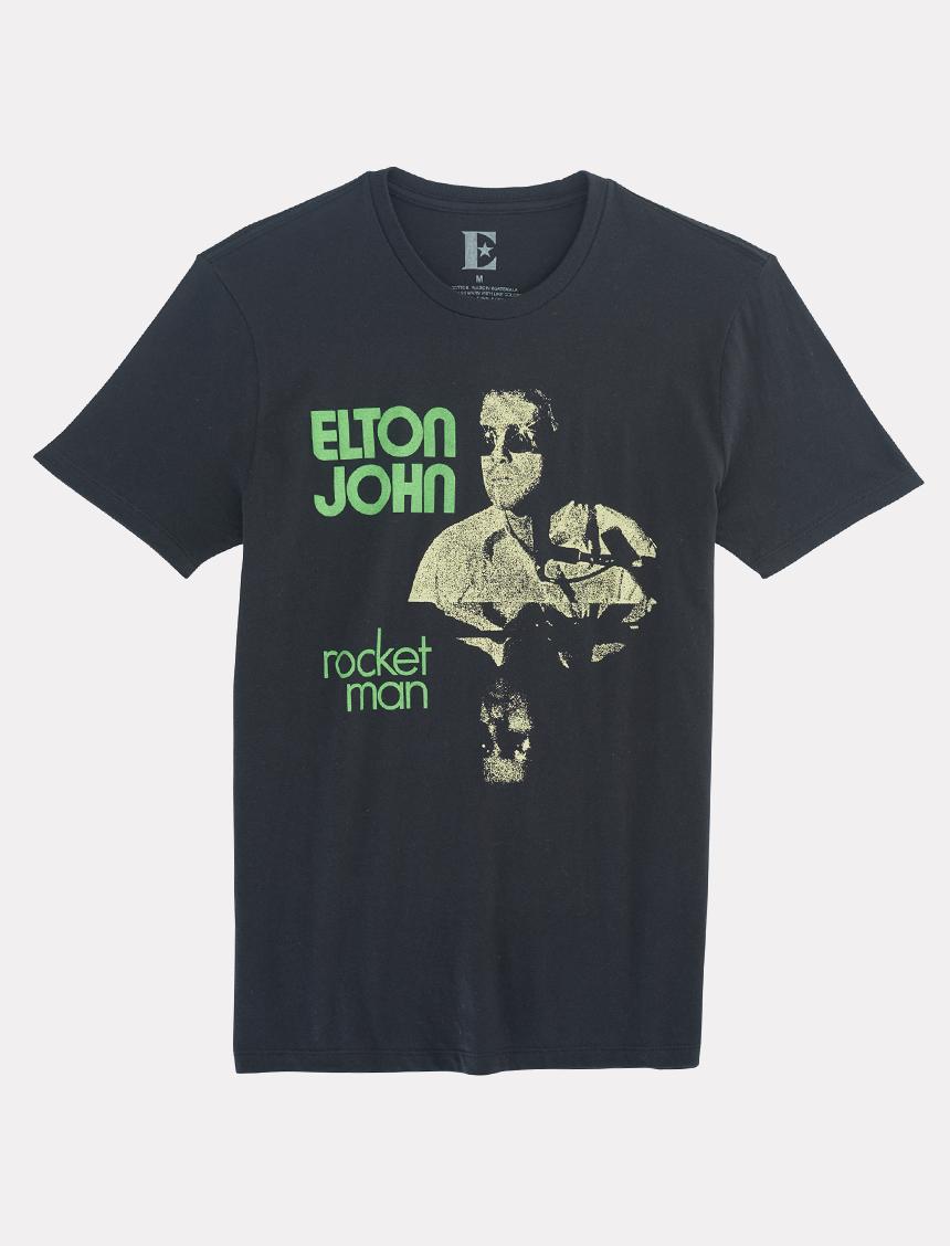 Elton John - Black T-Shirt
