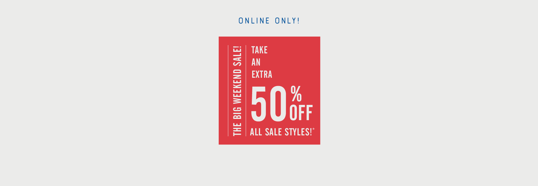 TAE 50% off sale