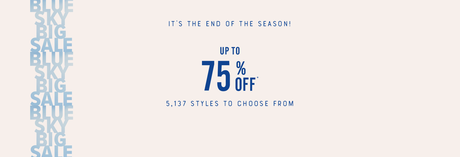 75% Off Sale Styles