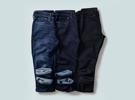 Refine your fall look with new dark wash denim