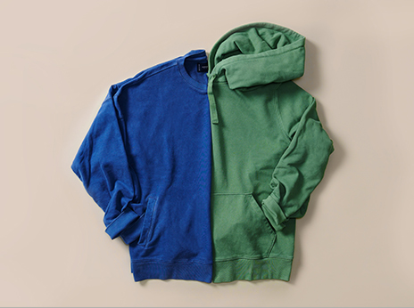 Layer up in leisure with our sueded fleece pullovers