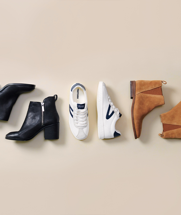 Step up your shoe game in fresh sneakers & booties